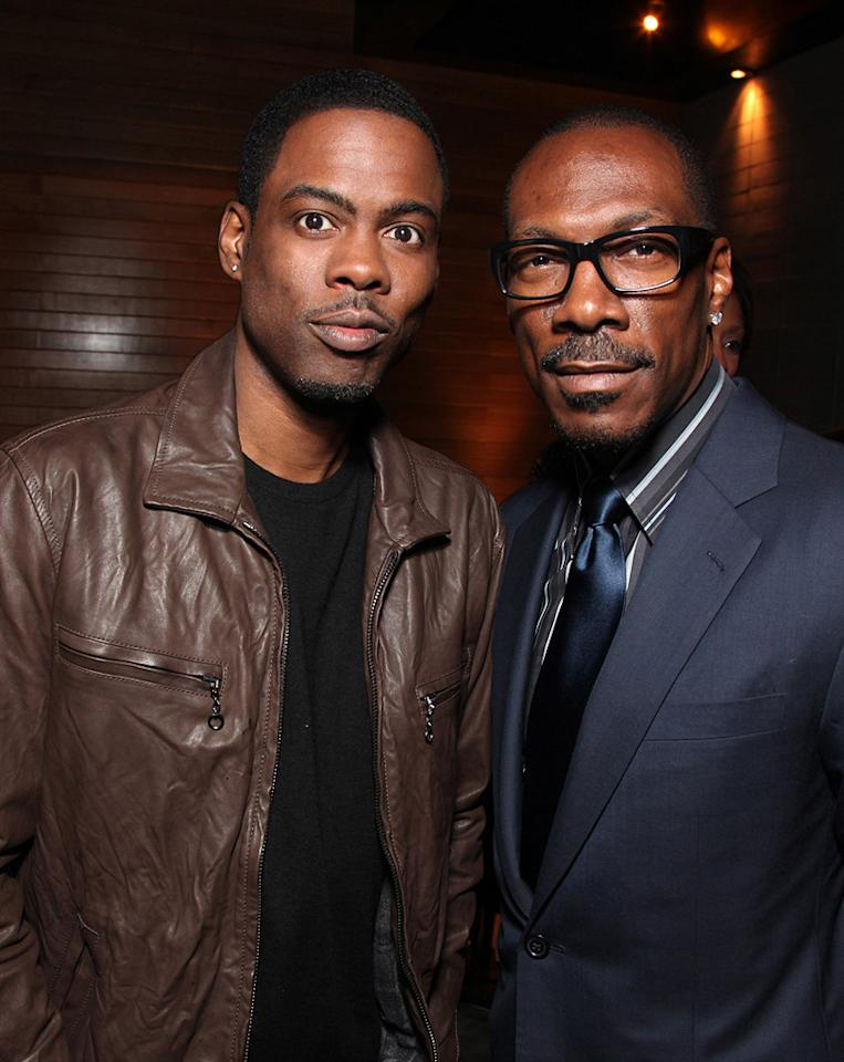 "<a href=""http://movies.yahoo.com/movie/contributor/1800019115"">Chris Rock</a> and <a href=""http://movies.yahoo.com/movie/contributor/1800011536"">Eddie Murphy</a> at the Los Angeles premiere of <a href=""http://movies.yahoo.com/movie/1810077967/info"">Death at a Funeral</a> - 04/12/2010"