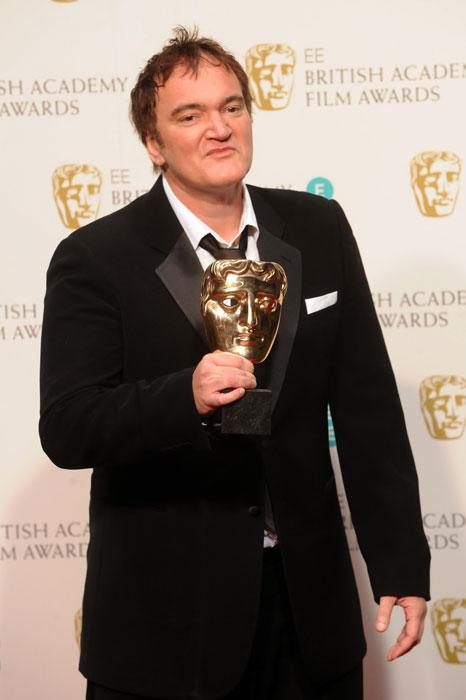 Quentin Tarantino poses with the Best Original Screenplay Award poses in the press room at the EE British Academy Film Awards at The Royal Opera House on February 10, 2013 in London, England. (Photo by Stuart Wilson/Getty Images)