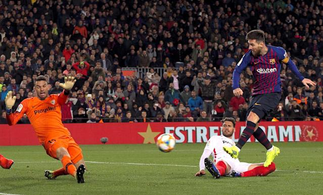 You didn't really think Lionel Messi and Barcelona would fail to overturn Sevilla's first-leg advantage in the Copa del Rey quarterfinals, did you? (EFE)