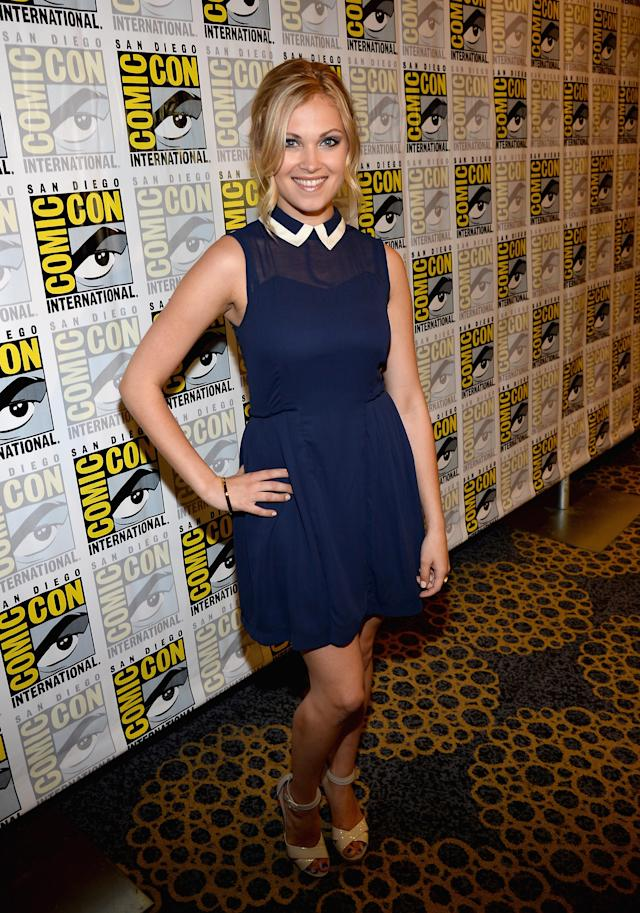 "Eliza Taylor attends ""The 100"" Press Line during Comic-Con International 2013 at Hilton San Diego Bayfront Hotel on July 19, 2013 in San Diego, California."
