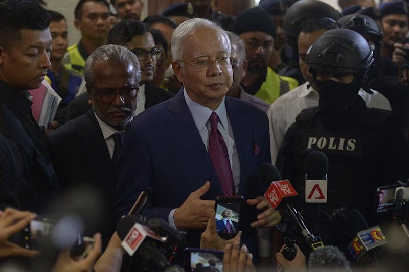 Datuk Seri Najib Razak denied today that the RM470 million channelled to member parties ahead of Election 2013 was derived from 1MDB. ― Picture by Mukhriz Hazim