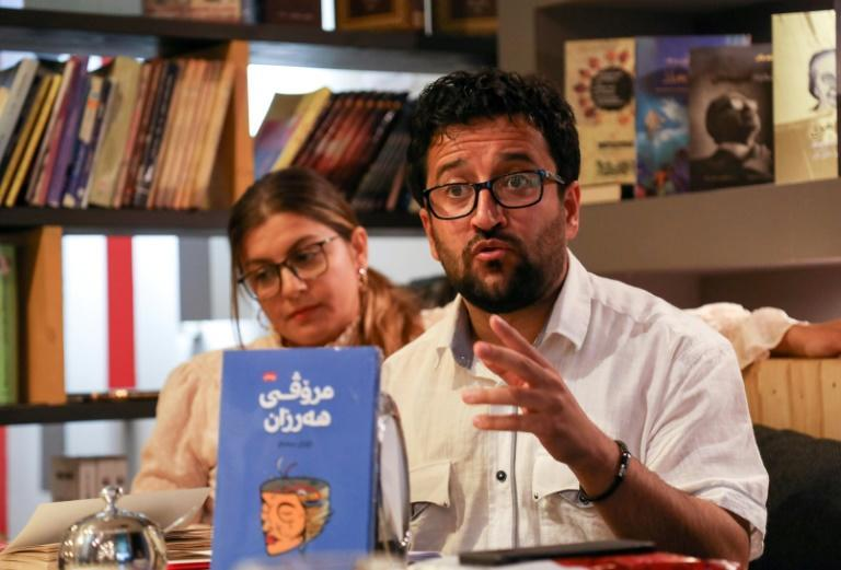 A book club meets in Arbil in Kurdistan in northern Iraq, one of several trying to give homegrown authors a platform
