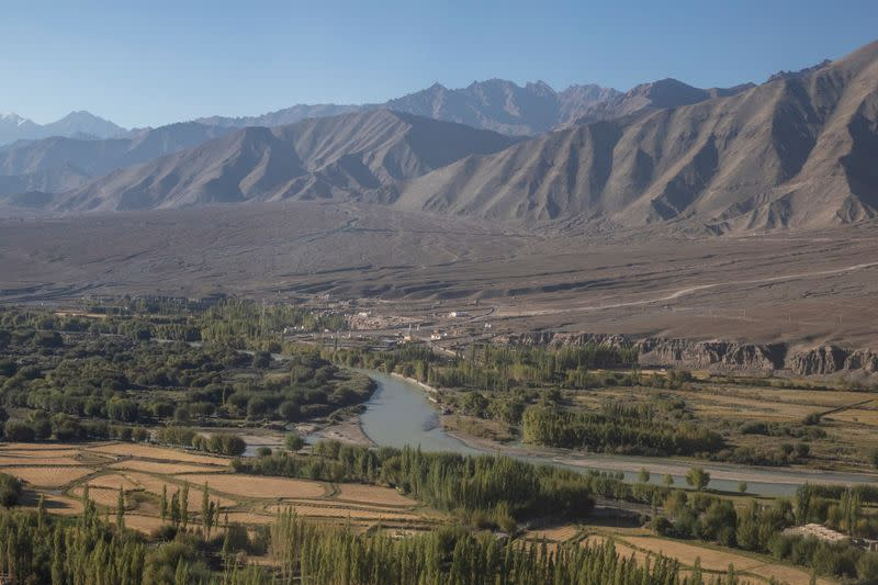 FILE PHOTO: River Indus flows through Leh