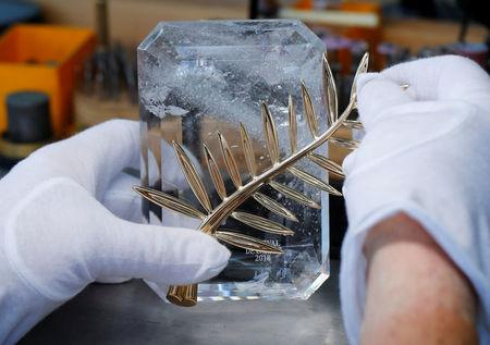 Demonstration of the making of the Palme d'Or trophy for the upcoming Cannes Film Festival