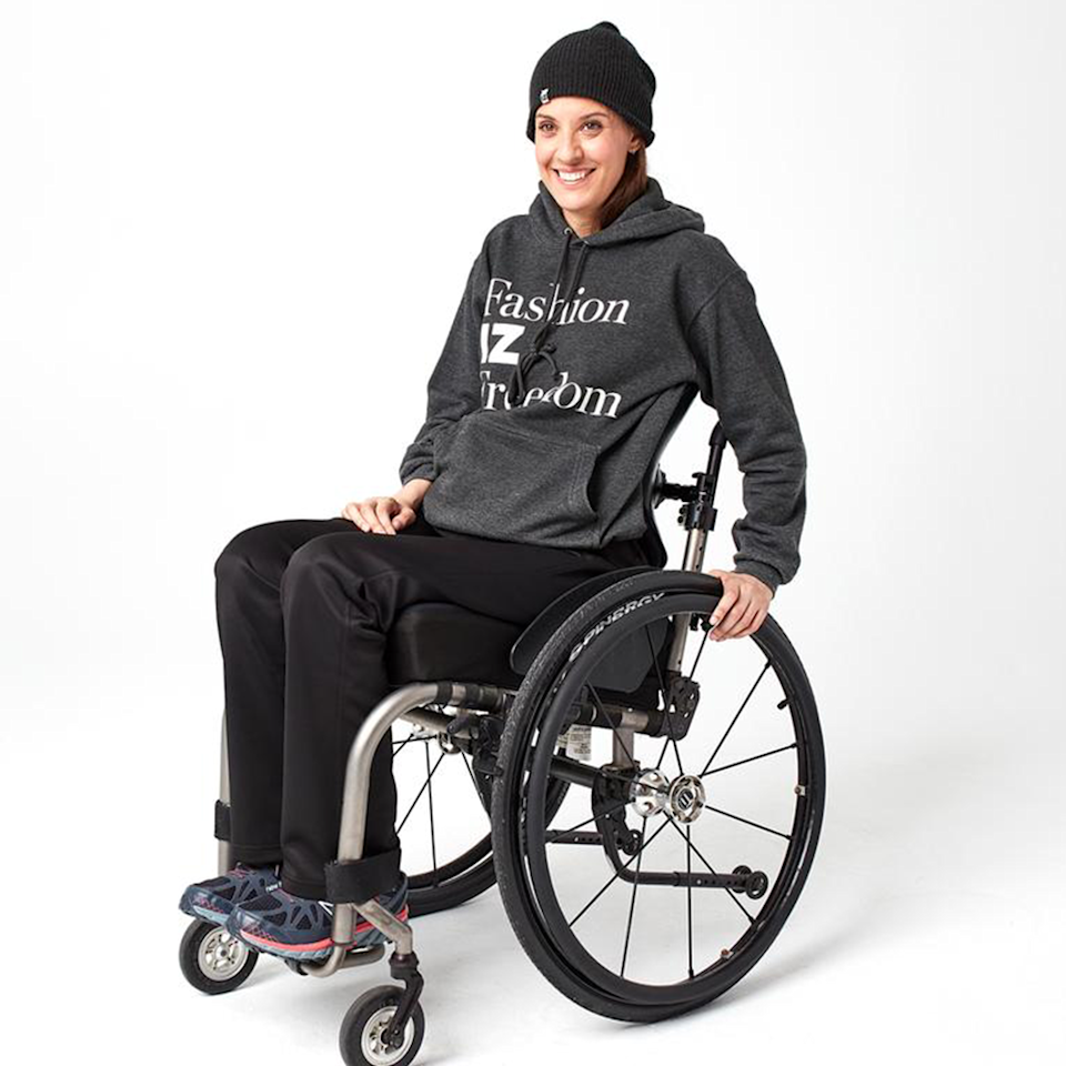 """<p><strong>IZ Adaptive</strong></p><p>izadaptive.com</p><p><strong>$105.00</strong></p><p><a href=""""https://izadaptive.com/collections/game-changer-collection-for-women/products/game-changer-seamless-back-yoga-pant"""" rel=""""nofollow noopener"""" target=""""_blank"""" data-ylk=""""slk:Shop Now"""" class=""""link rapid-noclick-resp"""">Shop Now</a></p><p>Adaptive clothing has come a long way, and IZ Adaptive is making sure to keep the options going. Made with materials and closures that are created for those with disabilities, the designs offer a secure fit for physical therapy and strolls through the park.</p><p><em>Style Pictured Available in sizes 2 to 24</em></p>"""
