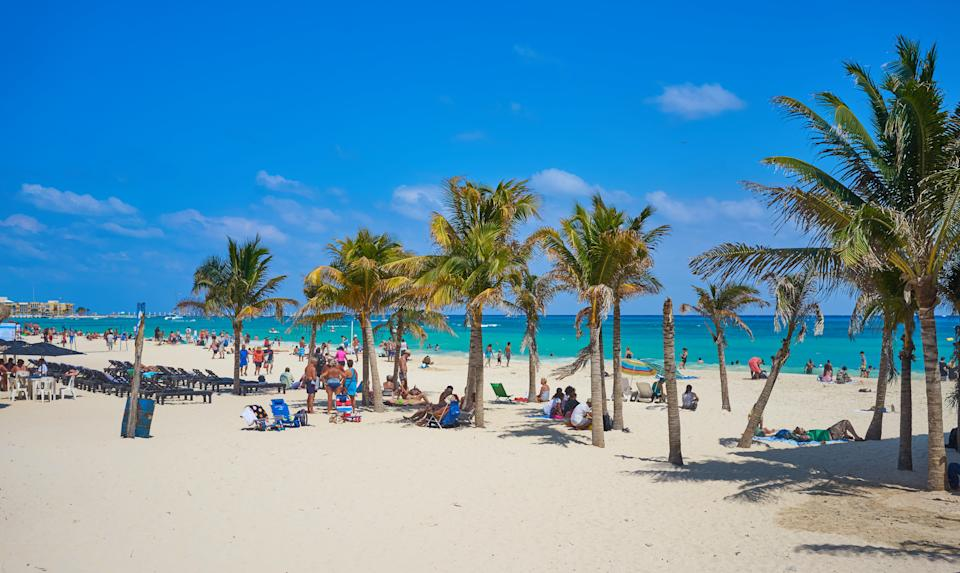 Tropical beaches of Riviera Maya in Mexico / Summer vacations in Mexico
