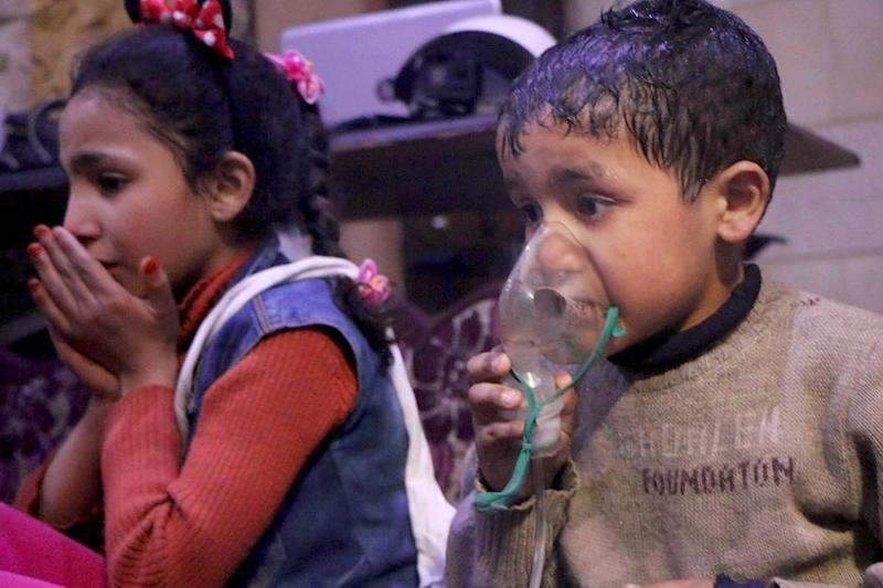 More than 40 were killed and some 500 injured by the suspected chemical attack, according to the White Helmets. (Anadolu Agency via Getty Images)
