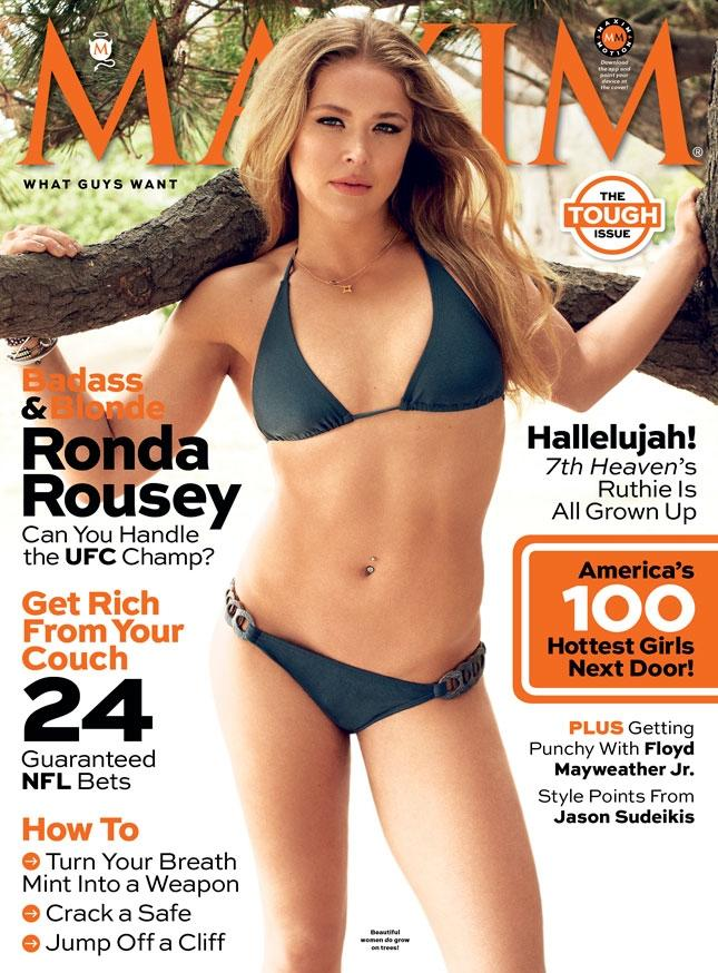 Ufc Champ Ronda Rousey Is Latest Maxim Magazine Cover Girl Graces September Issue