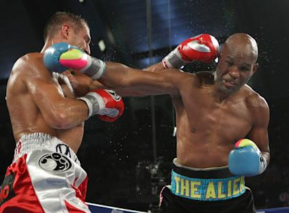 Bernard Hopkins, right, was dominated in his last bout against Sergey Kovalev. (AP)