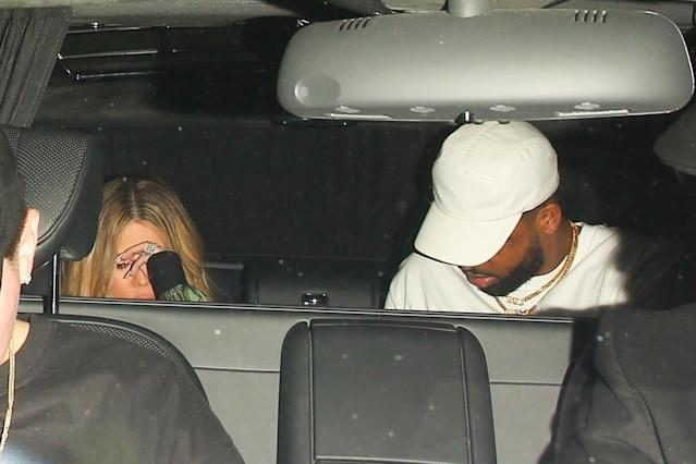 Khloé Kardashian and Tristan Thompson leave Nobu Malibu. (Photo: Backgrid)