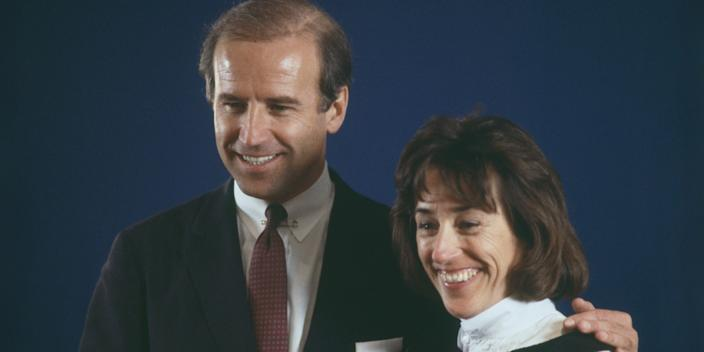 Archival photo of Joe Biden and his sister, Valerie Biden Owens.
