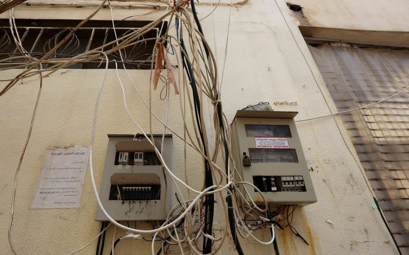 Cables and circuit breakers are seen in Tyre