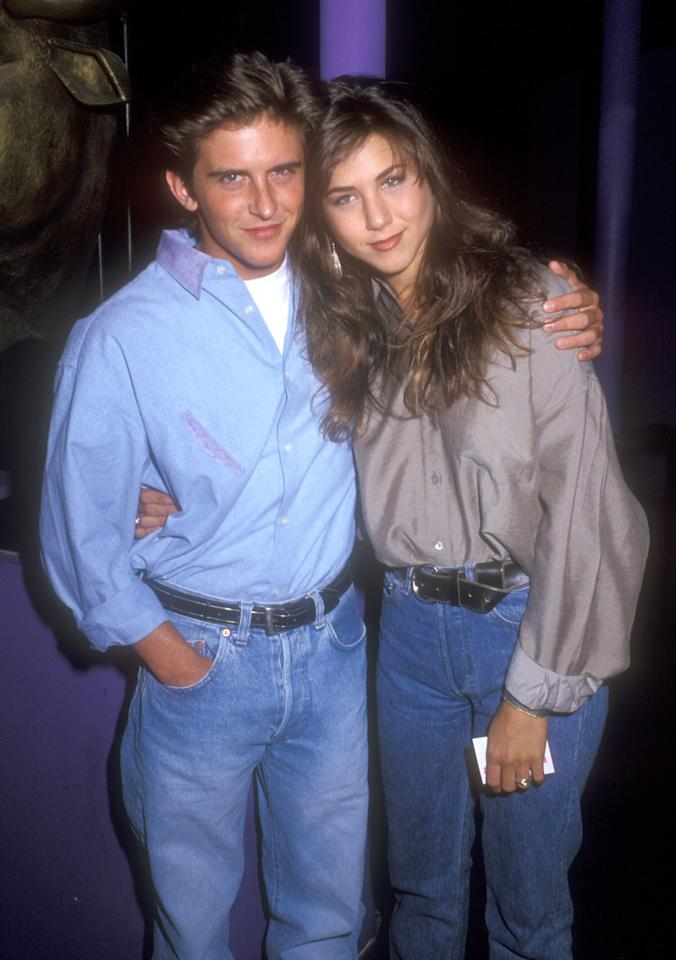 <p>The actress also starred in Ferris Bueller, a series which never made it off the ground either. Jen is pictured here with co-star Charlie Schlatter.<br />Source: Getty </p>