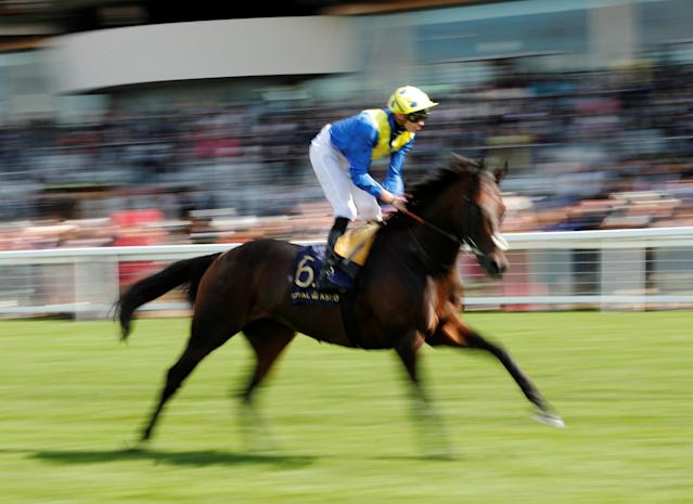 Horse Racing - Royal Ascot - Ascot Racecourse, Ascot, Britain - June 20, 2018 Poet's Word ridden by James Doyle before the 4.20 Prince Of Wales's Stakes Action Images via Reuters/Andrew Boyers