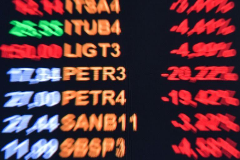 The news of Brazil's stronger than expected economic growth pushed the stock exchange in Sao Paulo to an intraday high