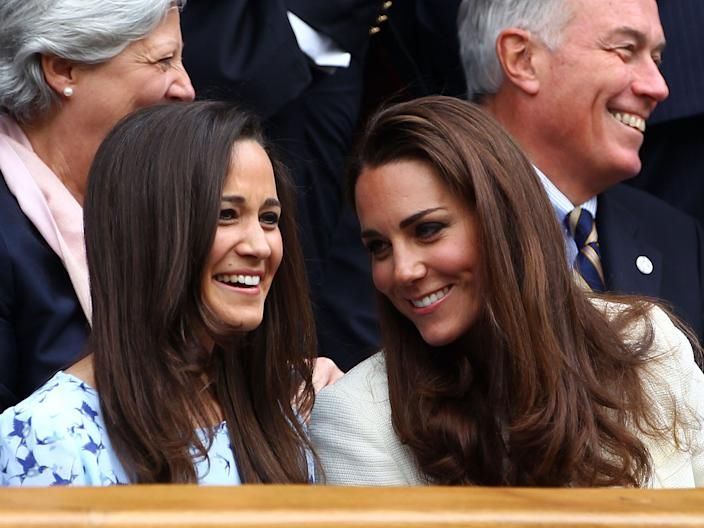Kate and Pippa Middleton.