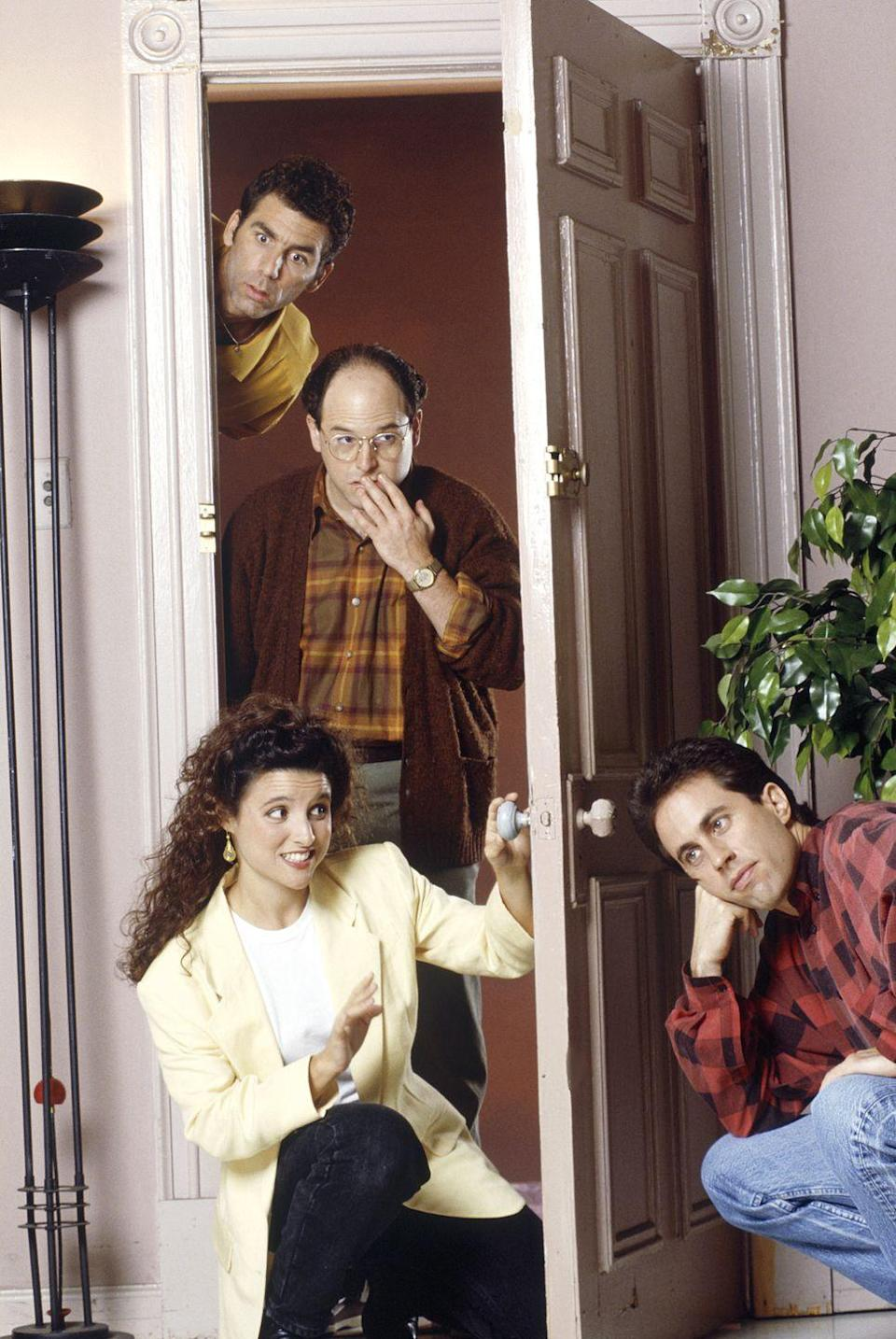 """<p>As the show retooled its casting, Seinfeld also circled back to one of the show's current characters: Kramer. In the pilot, Michael Richards's character was <a href=""""https://decider.com/2019/07/05/seinfeld-pilot-30-anniversary/"""" rel=""""nofollow noopener"""" target=""""_blank"""" data-ylk=""""slk:named Kessler"""" class=""""link rapid-noclick-resp"""">named Kessler</a> and was based on David's ex-neighbor.</p>"""