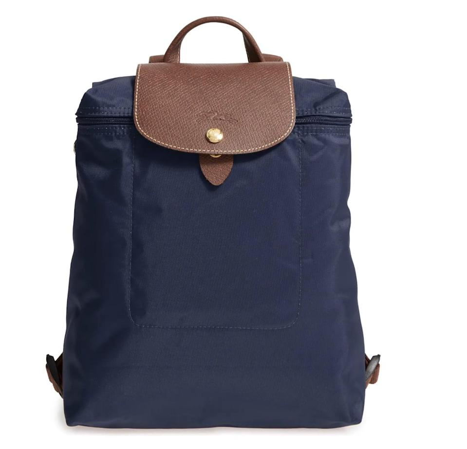 <p>You can't go wrong with this classic and modern <span>Longchamp Le Pliage Backpack </span> ($125). It comes in a few different colors, and will match anything in your closet. </p>