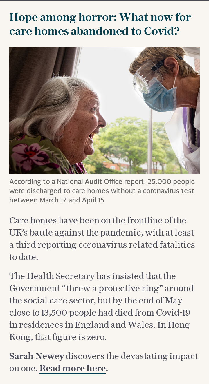 What now for care homes abandoned to Covid?
