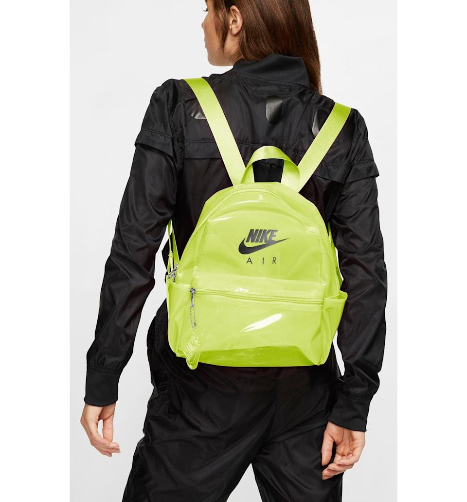 <p>This <span>Nike Mini JDI Clear Backpack</span> ($27, originally $40) pops in a bright uplifting hue.</p>