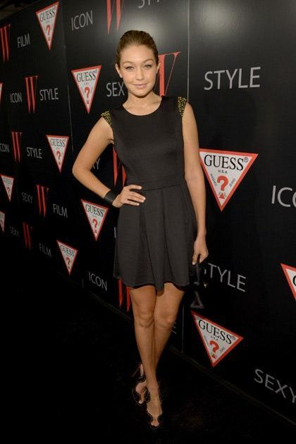 Nothing says sophistication like a well-cut little black dress. By pairing it with sexy heels and slicked-back hair, Gigi made it clear for everyone to see why she was chosen to be the face of Guess in 2012.