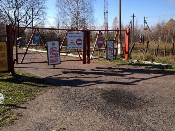 PHOTO: The entrance to the exclusion zone is seen here. (Tom Hinton)