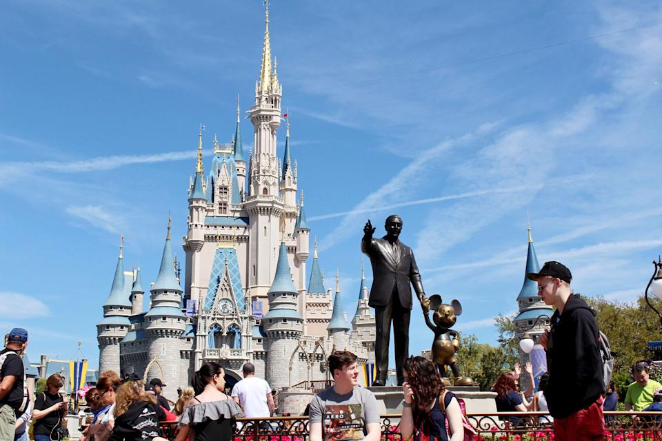 A mother struggled to find accessible parking at Walt Disney World in Orlando. Source: AP
