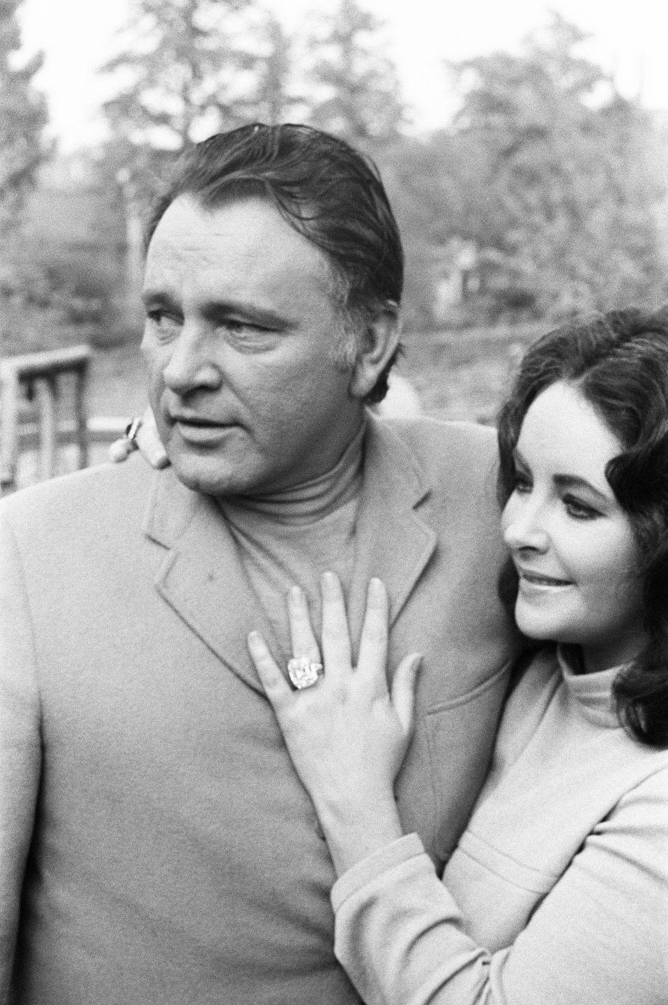"""<p>Although their relationship was highly publicized, their elopement when they married for a second time was a low-key affair. The couple said """"I do"""" (again) in an outdoor <a href=""""https://www.womansworld.com/gallery/entertainment/elizabeth-taylor-s-husbands-through-the-years-121515"""" rel=""""nofollow noopener"""" target=""""_blank"""" data-ylk=""""slk:ceremony in Botswana"""" class=""""link rapid-noclick-resp"""">ceremony in Botswana</a> with just an official and a witness joining them. </p>"""