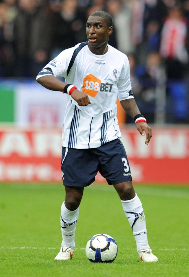 FILE PHOTO: Soccer Football - Bolton Wanderers v Stoke City - Barclays Premier League - The Reebok Stadium - September 19, 2009 Bolton Wanderers Jlloyd Samuel in action Action Images via Reuters/Paul Currie/File Photo NO ONLINE/INTERNET USE WITHOUT A LICENCE FROM THE FOOTBALL DATA CO LTD. FOR LICENCE ENQUIRIES PLEASE TELEPHONE +44 (0) 207 864 9000.