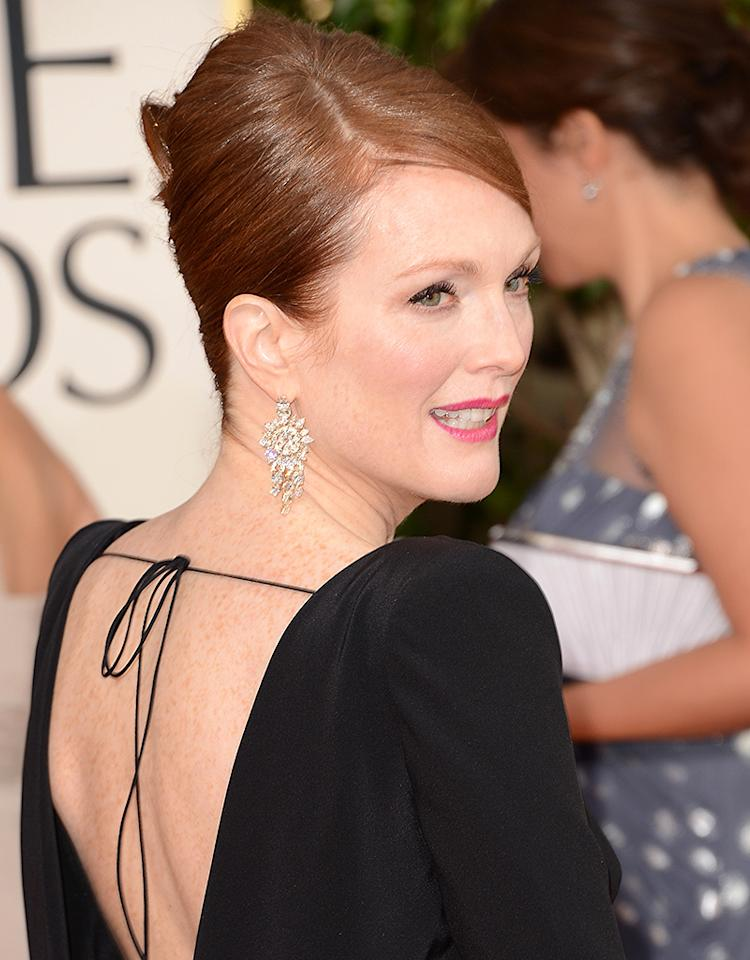 Julianne Moore arrives at the 70th Annual Golden Globe Awards at the Beverly Hilton in Beverly Hills, CA on January 13, 2013.