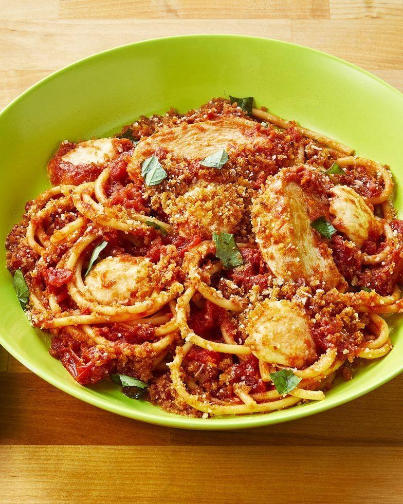 """<p>Fun fact: Ree Drummond considers pasta her all-time favorite food. """"If I were stranded on a desert island and could choose only one category of food to eat the rest of my life, I'd pick pasta hands down,"""" she says. That's the thing about <a href=""""https://www.thepioneerwoman.com/food-cooking/meals-menus/g32264479/pasta-recipes-meals/"""" rel=""""nofollow noopener"""" target=""""_blank"""" data-ylk=""""slk:pasta recipes"""" class=""""link rapid-noclick-resp"""">pasta recipes</a>: They're nearly perfect all on their own. <br></p><p>Here, you'll learn how to upgrade the beloved <a href=""""https://www.thepioneerwoman.com/food-cooking/meals-menus/g32933285/comfort-food-recipes/"""" rel=""""nofollow noopener"""" target=""""_blank"""" data-ylk=""""slk:comfort food"""" class=""""link rapid-noclick-resp"""">comfort food</a> staple with the addition of juicy, protein-packed chicken. Each and every one of these chicken pasta recipes is loaded with delicious flavors that'll delight your entire family—and they qualify as true <a href=""""https://www.thepioneerwoman.com/food-cooking/meals-menus/g31981626/30-minute-meal-ideas/"""" rel=""""nofollow noopener"""" target=""""_blank"""" data-ylk=""""slk:30-minute meals"""" class=""""link rapid-noclick-resp"""">30-minute meals</a> to boot. Truthfully, it's not just the chicken that makes these <a href=""""https://thepioneerwoman.com/food-cooking/meals-menus/g32068042/sunday-dinner-ideas/"""" rel=""""nofollow noopener"""" target=""""_blank"""" data-ylk=""""slk:Sunday dinner ideas"""" class=""""link rapid-noclick-resp"""">Sunday dinner ideas</a> true winners: Look out for other irresistible ingredients like bacon, sun-dried tomatoes, mushrooms, and more. Ree's legendary Chicken Spaghetti <a href=""""https://thepioneerwoman.com/food-cooking/meals-menus/g31929060/easy-casserole-recipes/"""" rel=""""nofollow noopener"""" target=""""_blank"""" data-ylk=""""slk:casserole recipe"""" class=""""link rapid-noclick-resp"""">casserole recipe</a> is also on the list, which Ladd says is the """"only casserole in existence"""" that he'll eat.</p><p>Grab your pots and pans and start boiling your wate"""