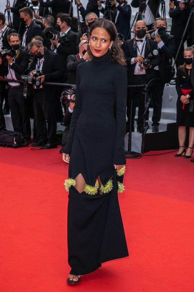 <p>The French actress wore a Bottega Veneta gown to the premiere of the French Dispatch at the annual film festival.</p>