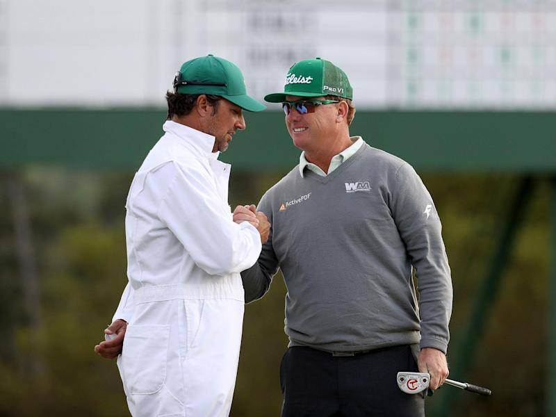 Charley Hoffman takes a four-shot lead into the second day of the Masters: Getty