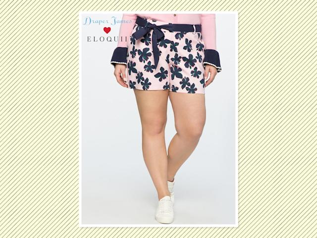 "<p>Draper James for Eloquii hibiscus-printed shorts, $75, <a href=""http://www.eloquii.com/draper-james-for-eloquii-hibiscus-printed-short/1346060.html?cgid=draper-james&start=3&dwvar_1346060_colorCode=16"" rel=""nofollow noopener"" target=""_blank"" data-ylk=""slk:Eloquii"" class=""link rapid-noclick-resp"">Eloquii</a> (Photo: Eloquii) </p>"