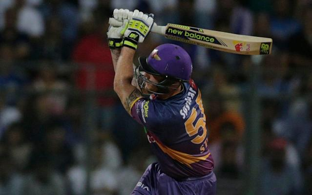 Ben Stokes in action for Rising Pune Supergiants - AP
