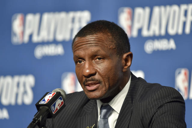 Dwane Casey made five trips to the playoffs with the Raptors. (Getty Images)