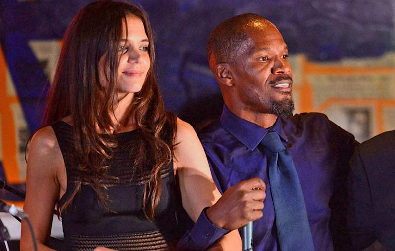 Their romance was seemed to be confirmed last week when they pictured holding hands, and now the latest word on the street is that Katie Holmes and Jamie Foxx are expecting a child together. The pair pictured here in 2013. Source: Getty