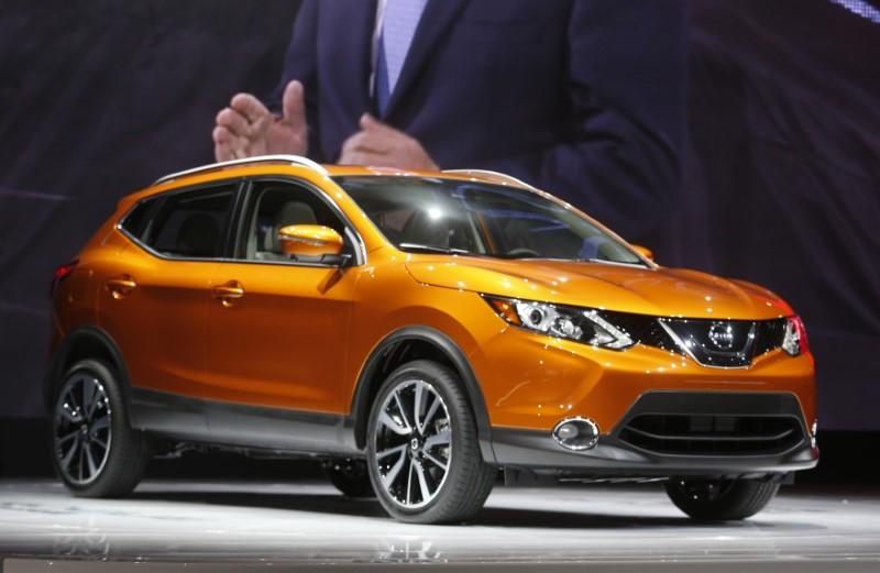The 2017 Nissan Rogue Sport is displayed during the North American International Auto Show in Detroit
