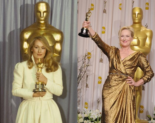 """Meryl Streep won her first Oscar in 1980 for """"Kramer vs. Kramer"""" and more than three decades later she's been nominated 17 times and won her third Oscar for her performance as Margaret Thatcher in """"the Iron Lady."""""""