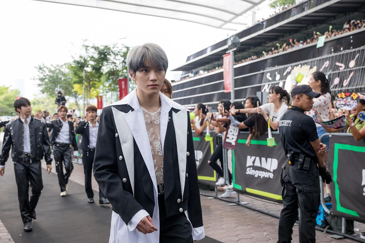 NCT 127 arrives on the red carpet. (PHOTO: Kamp Singapore)