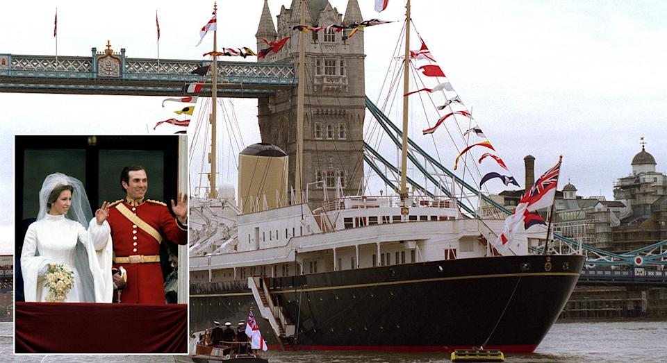 <p>After their wedding back in 1973, Princess Anne and Mark Phillips toured the Caribbean aboard the Royal Yacht Britannia. <em>[Photo: Getty]</em> </p>