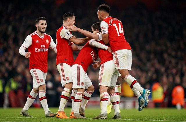 Mikel Arteta celebrated his first win as Arsenal boss