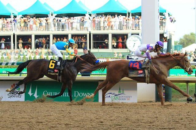 I'll Have Another tracked down Bodemeister down the stretch to win the 2012 Kentucky Derby. (Getty)