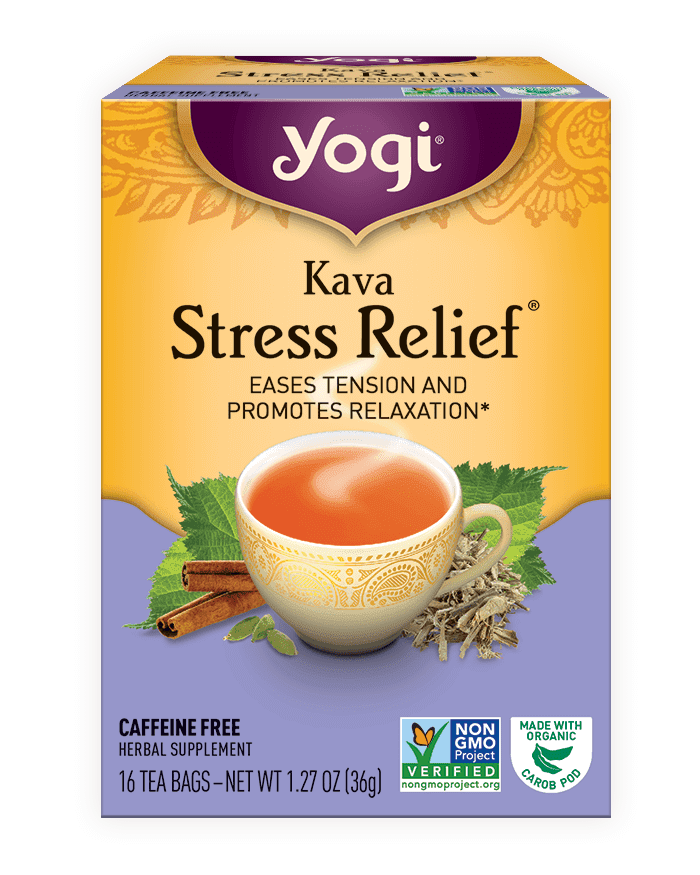 <p>When I need to unwind from a long day, I reach for this soothing <span>Yogi Kava Stress Relief Tea</span> ($4.49).</p>