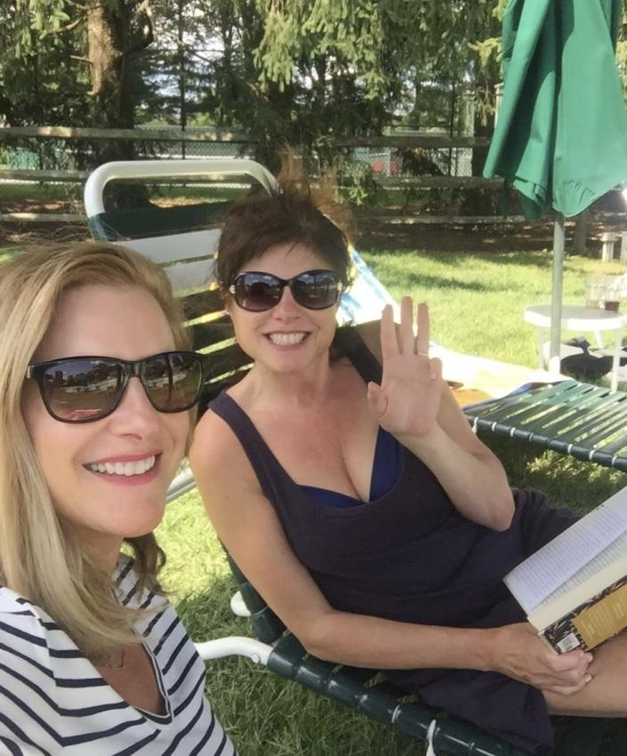 Susan Ledyard and her sister, Meg Morrissey Heinicke, just three weeks before Susan's death. (Courtesy of Morrissey Family)