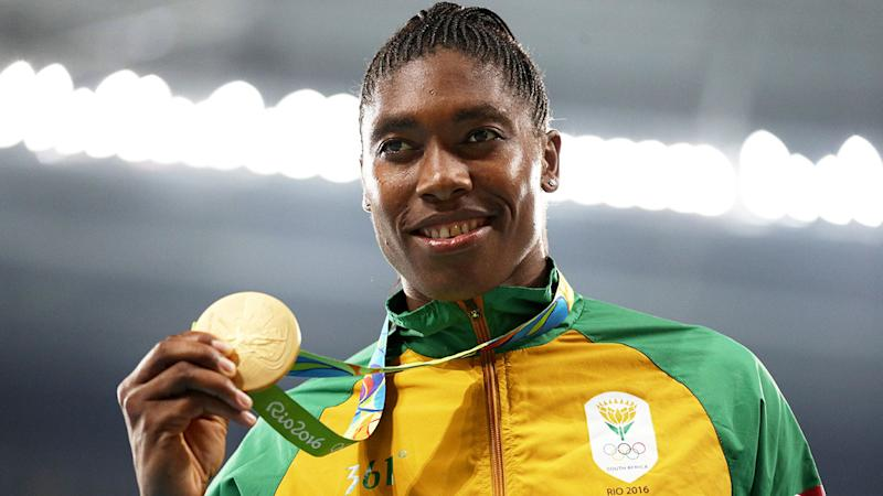 Semenya is seen here with her Rio 2016 Olympic Games gold medal.