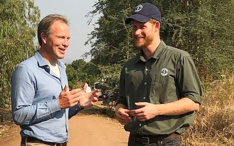 Tom Bradby for ITV with The Duke of Sussex in South Africa - Credit: ITV