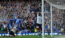 Chelsea beat Tottenham 2-1 with a last-minute goal from Kalou. Replays suggest it was offside? (30 April 2011)