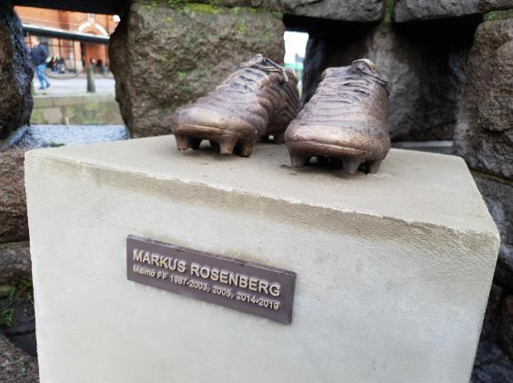 A statue in Malmo honouring the forward (Lee Roden)