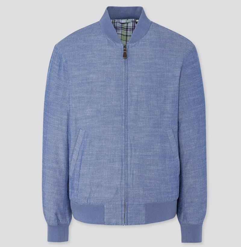 """<p><strong>Uniqlo</strong></p><p>uniqlo.com</p><p><strong>$49.90</strong></p><p><a href=""""https://go.redirectingat.com?id=74968X1596630&url=https%3A%2F%2Fwww.uniqlo.com%2Fus%2Fen%2Fmen-cotton-ribbed-blouson-426044.html&sref=https%3A%2F%2Fwww.esquire.com%2Fstyle%2Fnews%2Fg2932%2F10-best-bomber-jackets-for-fall%2F"""" rel=""""nofollow noopener"""" target=""""_blank"""" data-ylk=""""slk:Buy"""" class=""""link rapid-noclick-resp"""">Buy</a></p><p>Sure, they might technically call it a """"blouson,"""" but don't get it twisted: that's one hell of a lightweight bomber right there. </p>"""